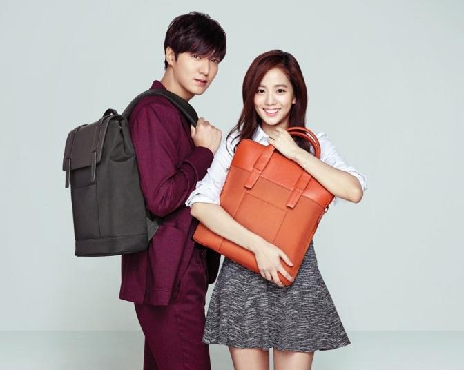 [ENDORSEMENT] 150121 Kim Jisoo & Lee Minho for Samsonite Red S/S