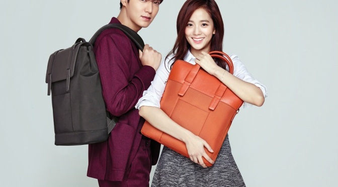 [ENDORSEMENT] 150121 Kim Jisoo & Lee Minho for Samsonite Red S/S