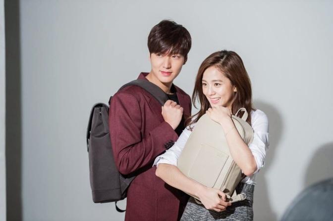 [ENDORSEMENT] 150330 BTS: Kim Jisoo and Lee Minho for Samsonite Red S/S Photoshoot