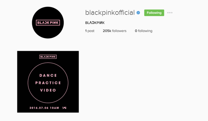 [MISC] 160709 BLACKPINK Hits Milestones: More Than 200K Followers on Instagram, 2M Views on Dance Pratice Video