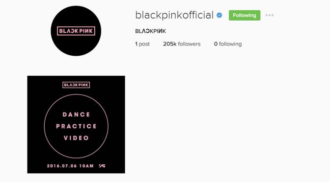 [MISC] 160709 BLACKPINK Hits Milestones: More Than 200K Followers on Instagram, 2M Views on Dance Pratice Video