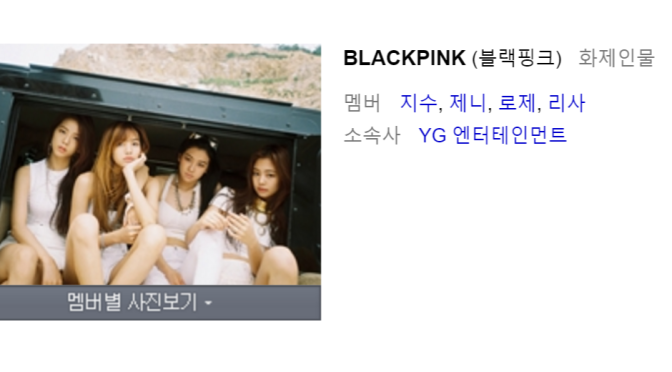 [MISC] BLACKPINK & The Members' Profiles Up on Naver
