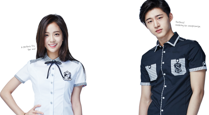 [ENDORSEMENT] 160504 HQ Photos of Jisoo with iKON for 2016S Smart Uniform