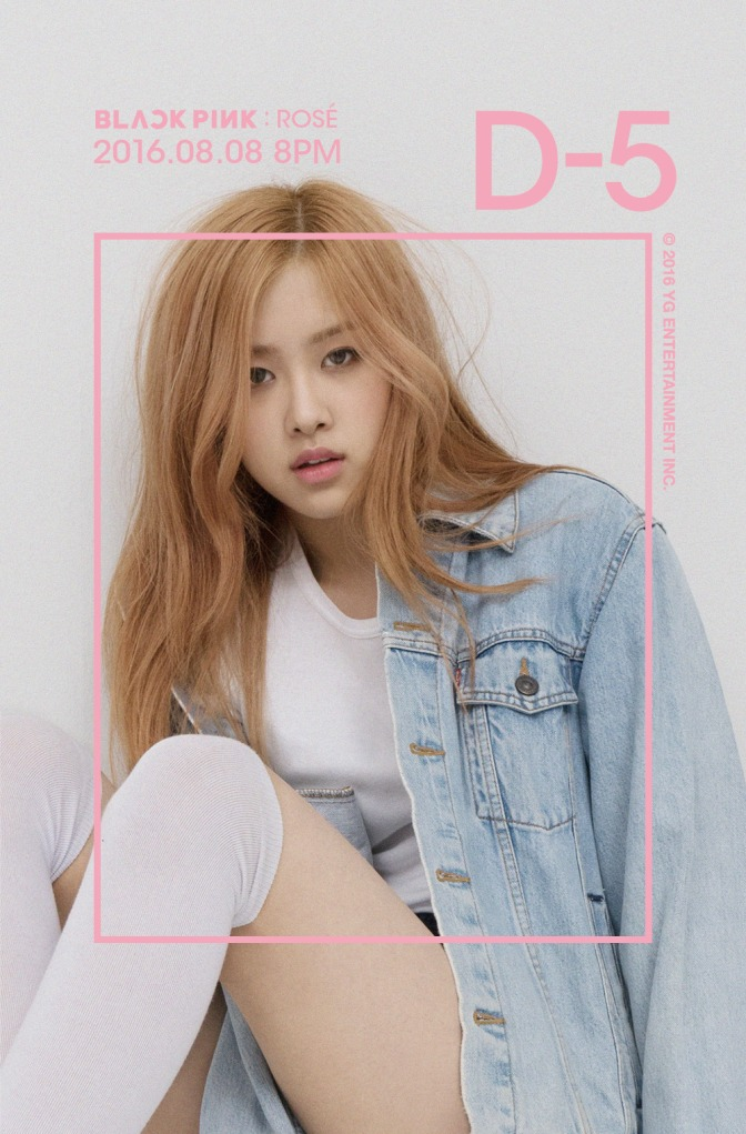 "[OFFICIAL] 160803 BLACKPINK IN YOUR AREA D-5 ""ROSÉ"""