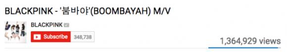 160809 blackpink mv views boombayah