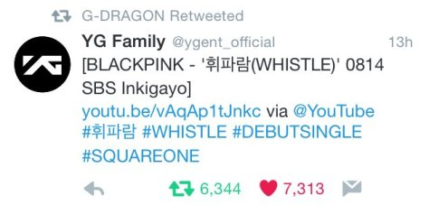 160814 gdragon blackpink RT1