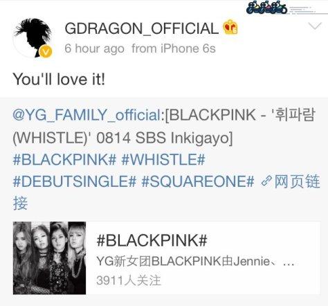 160814 gdragon blackpink weibo1
