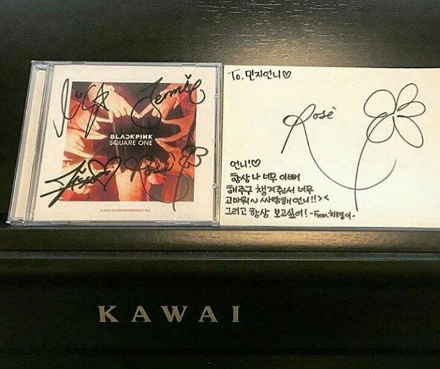 160814 rose cousin blackpink cd pic