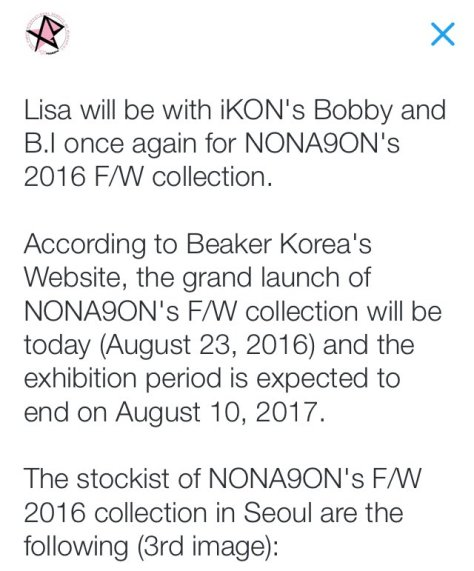 INFO NONAGON 2016 FW LAUNCHING
