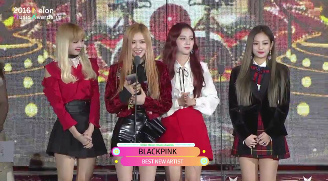 [YG-LIFE] 161119 BLACKPINK Wins New Artist Award at Melon Music Awards