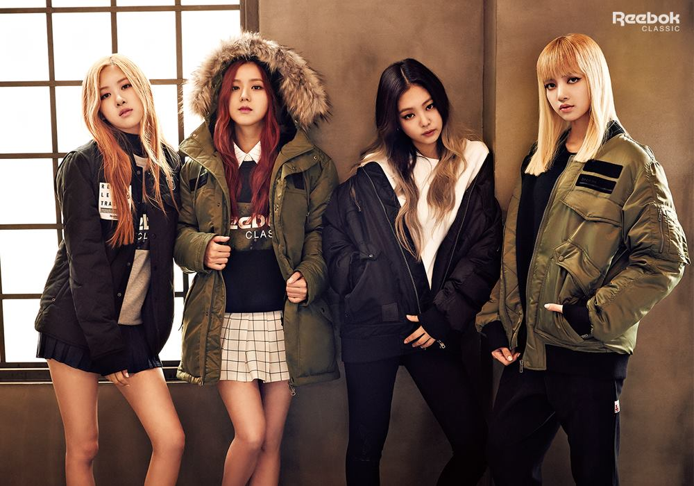Endorsement blackpink for reebok classic ygdreamers Fashion style group mauritius