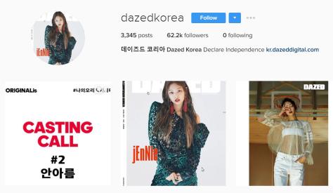 170318 dazedkorea instagram profile