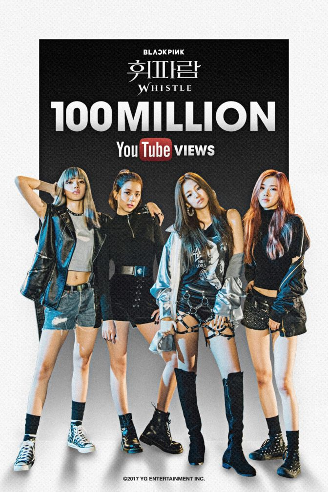 [OFFICIAL] 170415 BLACKPINK – 'WHISTLE' MV HITS 100 MILLION VIEWS