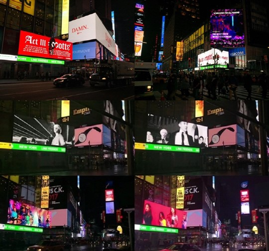 170429 gd winner blackpink on nyc times square