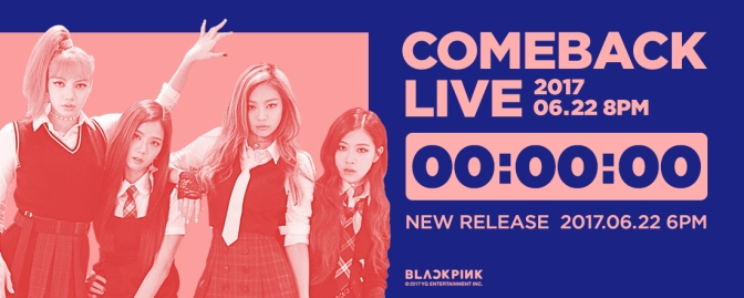 [OFFICIAL] 160622 BLACKPINK – COMEBACK LIVE COUNTER