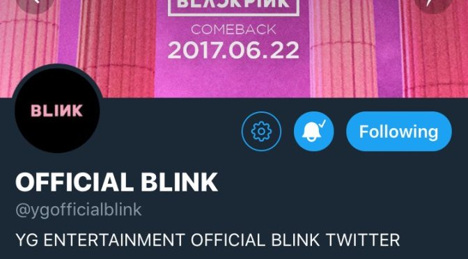 [INFO] 170624 BLACKPINK Opens Official Twitter Account + Set To Appear on MBCevery1 Weekly Idol & MBC Section TV's Idol Men