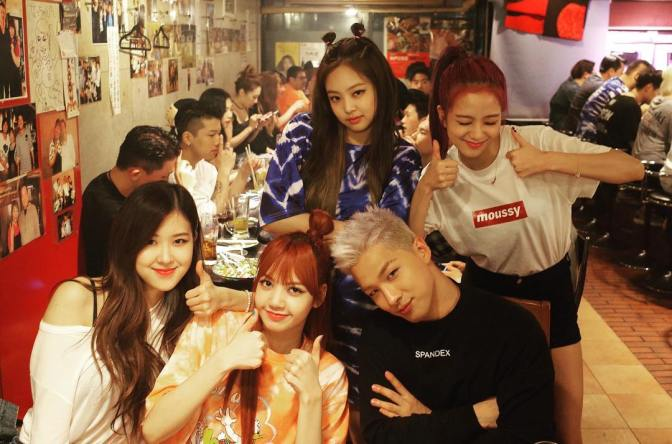 "[YG-LIFE] 170807 ""YG Family"" TAEYANG X BLACKPINK, Company Dinner Time of the Dandy and Stylish"