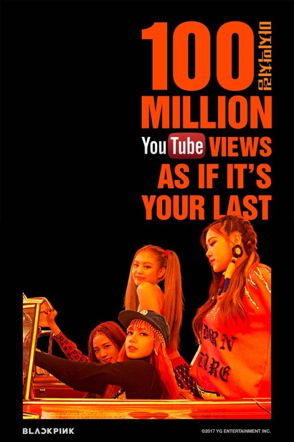 170808 BLACKPINK - 'AS IF IT'S YOUR LAST' MV HITS 100 MILLION VIEWS