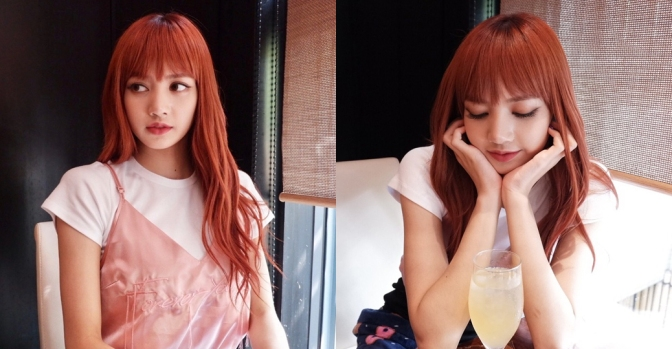 "[YG-LIFE] 171012 ""Lovely today"", BLACKPINK's Lisa Makes A Cute Flower Cup Pose"