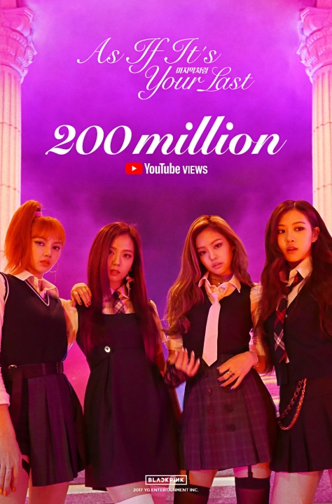 171215 BLACKPINK - 'AS IF IT'S YOUR LAST' MV HITS 200 MILLION VIEWS