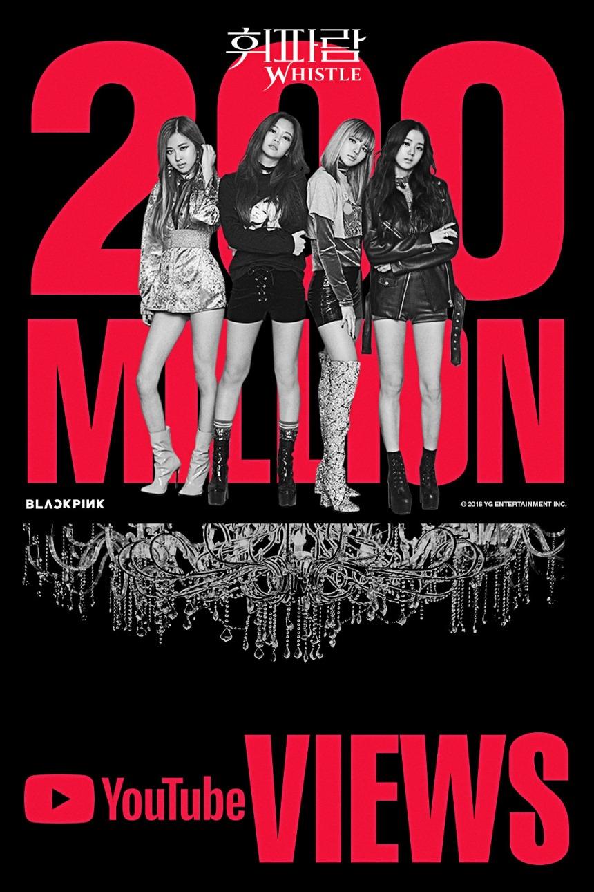 180406 BLACKPINK - 'WHISTLE' MV HITS 200 MILLION VIEWS