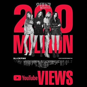 180406 fromyg whistle mv 200m youtube views