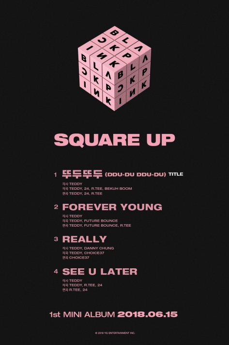 180605 BLACKPINK - 'SQUARE UP' FULL TRACKLIST