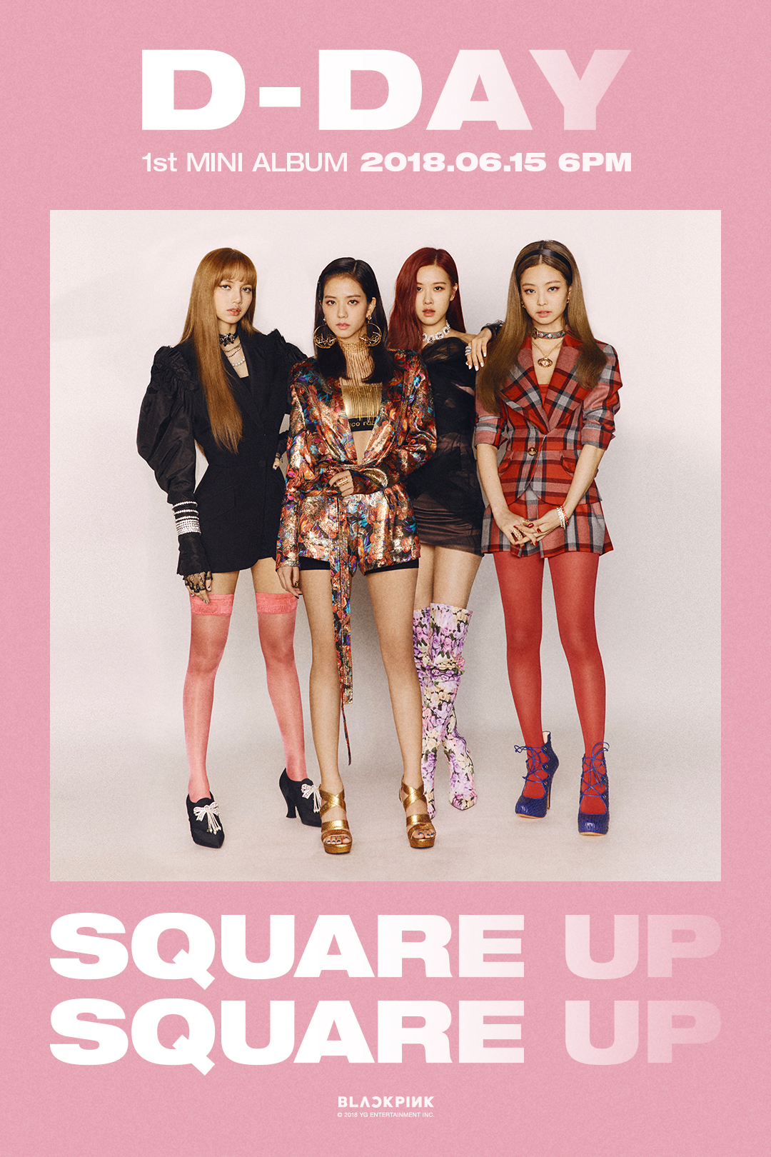 180615 BLACKPINK - 1st MINI ALBUM 'SQUARE UP' D-DAY POSTER