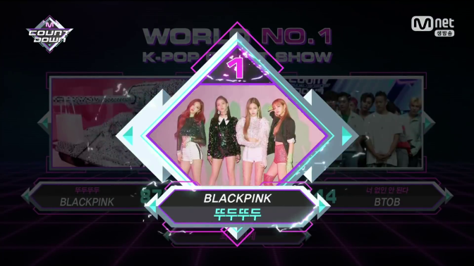 [INFO] 180628~29 BLACKPINK Wins 1st Place on KBS Music Bank & Mnet M!Countdown for '뚜두뚜두' (DDU-DU DDU-DU)