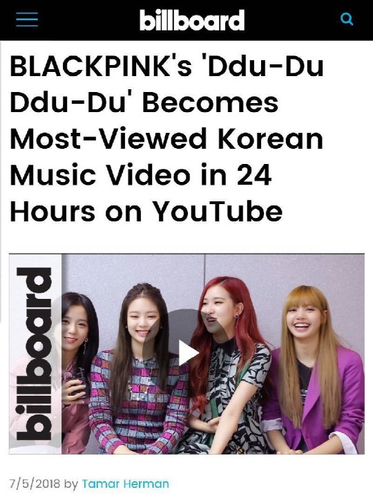 180706 dddd mv no1 korean mv billboard