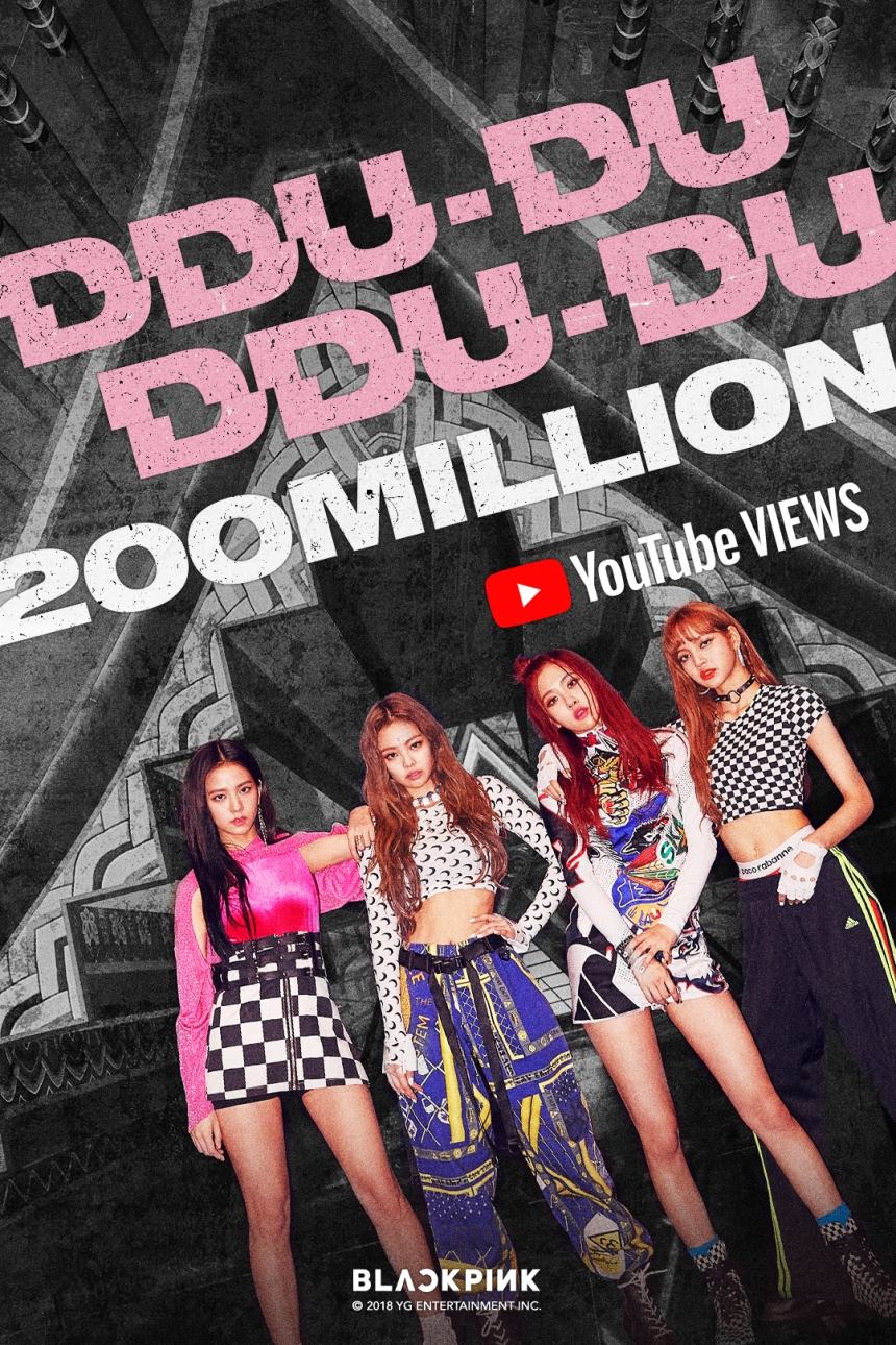 180719 BLACKPINK - 'DDU-DU DDU-DU' MV HITS 200 MILLION VIEWS