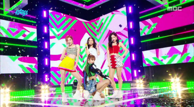 [SHOW] 180804 BLACKPINK Performs Goodbye Stage With 'Forever Young' on MBC Music Core