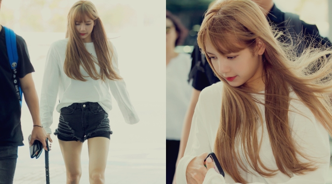 [PRESS] 180808 Lisa at Incheon Airport (Departure to Indonesia)