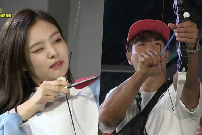 "[NEWS] 180812 BLACKPINK's Jennie Takes On Kim Jong Kook In Game Of Archery On ""Running Man"""
