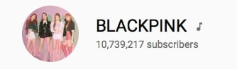 180816 3pm blackpink youtube subscribers