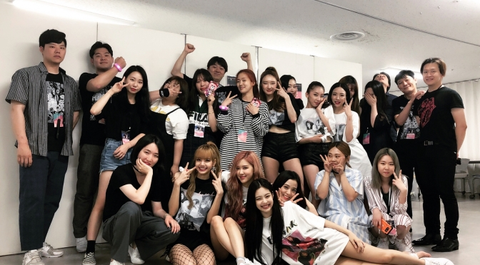 [SNS] YG Dancers, Staff & Friends with BLACKPINK Backstage of Japan Arena Tour 2018