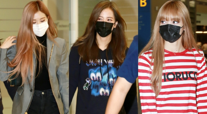 [PRESS] 180913 Jisoo, Rosé & Lisa at Incheon Airport (Arrival from New York)