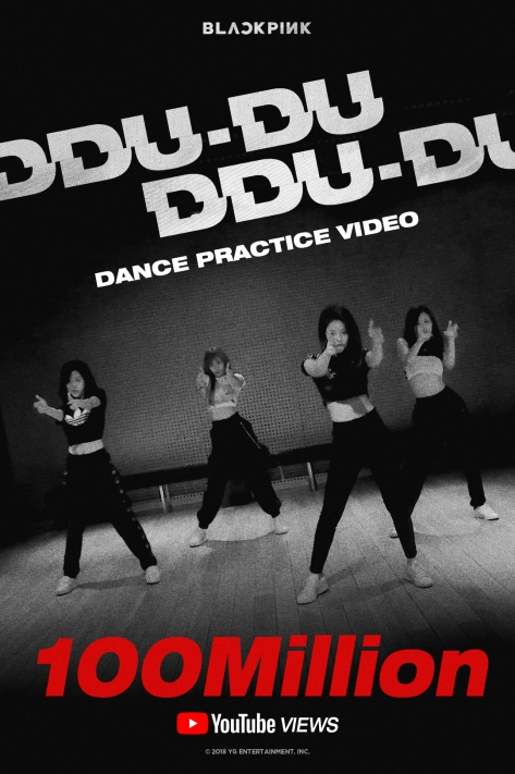 180920 BLACKPINK - DDU-DU DDU-DU DANCE PRACTICE VIDEO HITS 100 MILLION VIEWS
