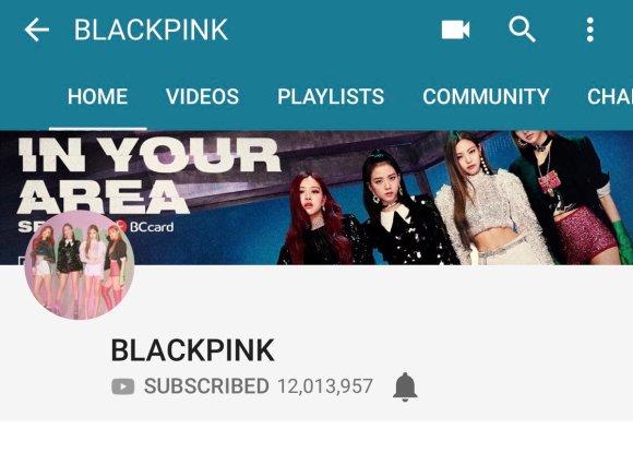 180924 blackpink youtube subscribers