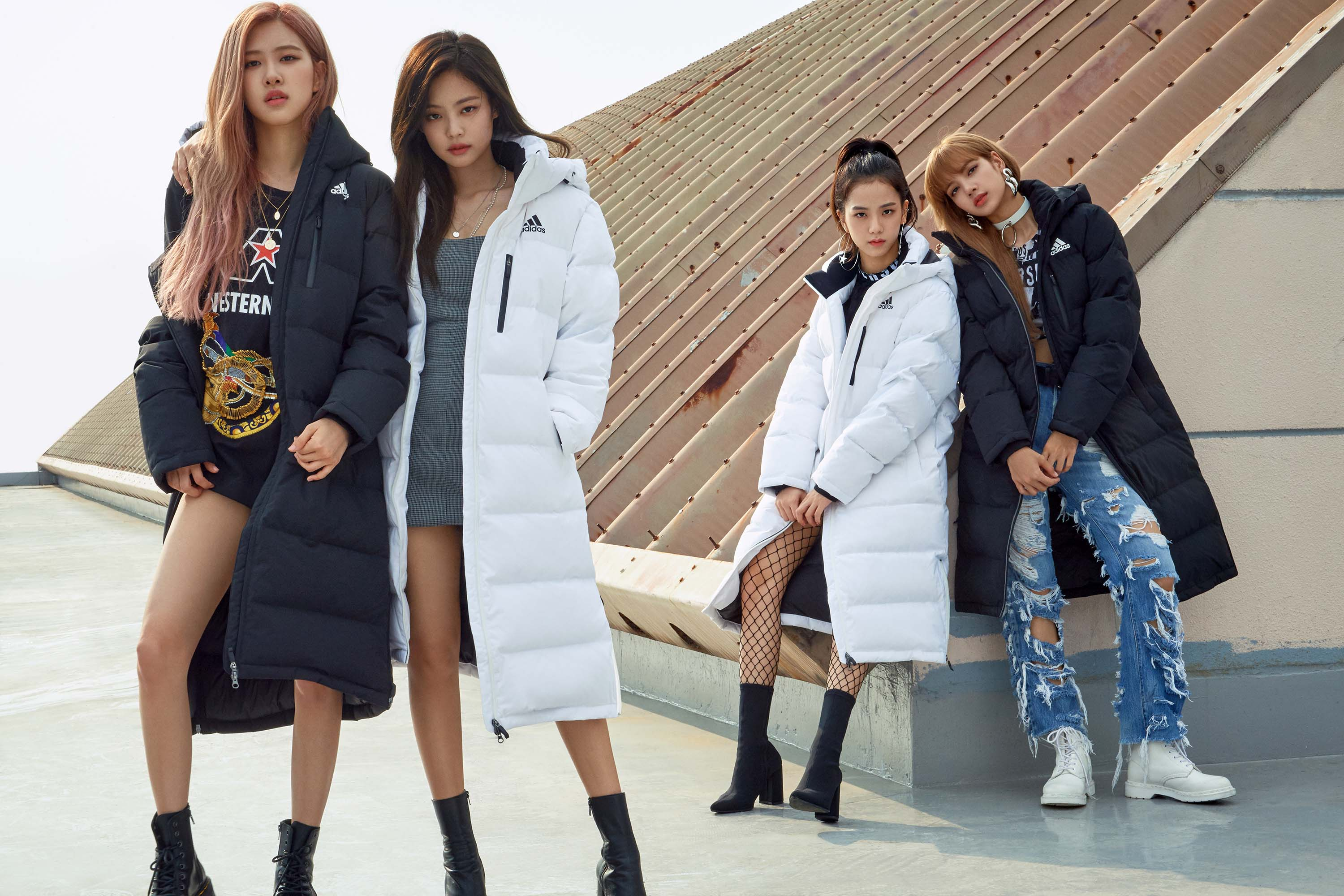 blackpink adidas winter jacket press 2