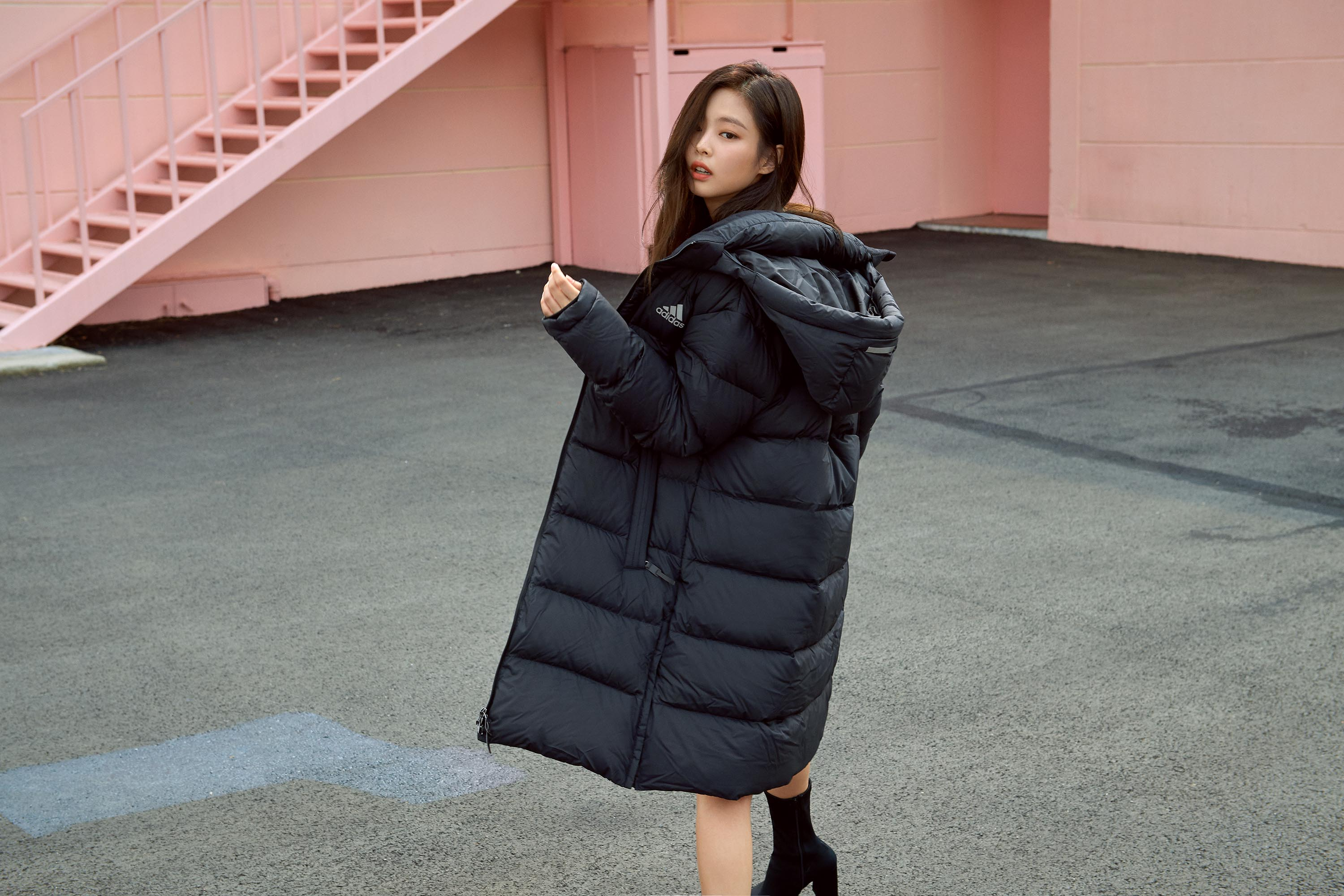 blackpink adidas winter jacket press 4