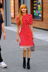 NEW YORK, NY - SEPTEMBER 12: Lisa Look is seen arriving to Michael Kors Collection SS19 fashion show during New York Fashion Week at Pier 17 on September 12, 2018 in New York City. (Photo by Raymond Hall/GC Images)