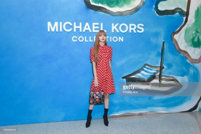 NEW YORK, NY - SEPTEMBER 12: Lalisa Manoban attends Michael Kors Collection Spring 2019 Runway Show at Pier 17 on September 12, 2018 in New York City. (Photo by Presley Ann/Patrick McMullan via Getty Images)
