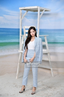 PARIS, FRANCE - OCTOBER 02: Jennie Kim attends the Chanel show as part of the Paris Fashion Week Womenswear Spring/Summer 2019 on October 2, 2018 in Paris, France. (Photo by Pascal Le Segretain/Getty Images)