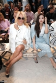 PARIS, FRANCE - OCTOBER 02: Actress Pamela Anderson and Jennie Kim attend the Chanel show as part of the Paris Fashion Week Womenswear Spring/Summer 2019 on October 2, 2018 in Paris, France. (Photo by Bertrand Rindoff Petroff/Getty Images)