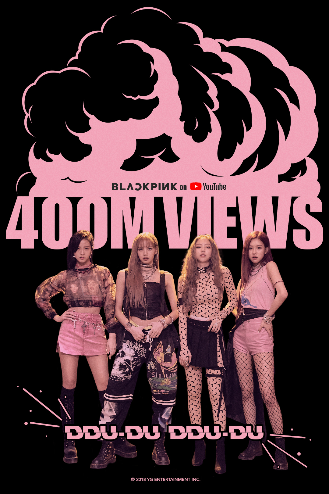 181006 BLACKPINK – 뚜두뚜두 (DDU-DU DDU-DU) MV HITS 400 MILLION VIEWS
