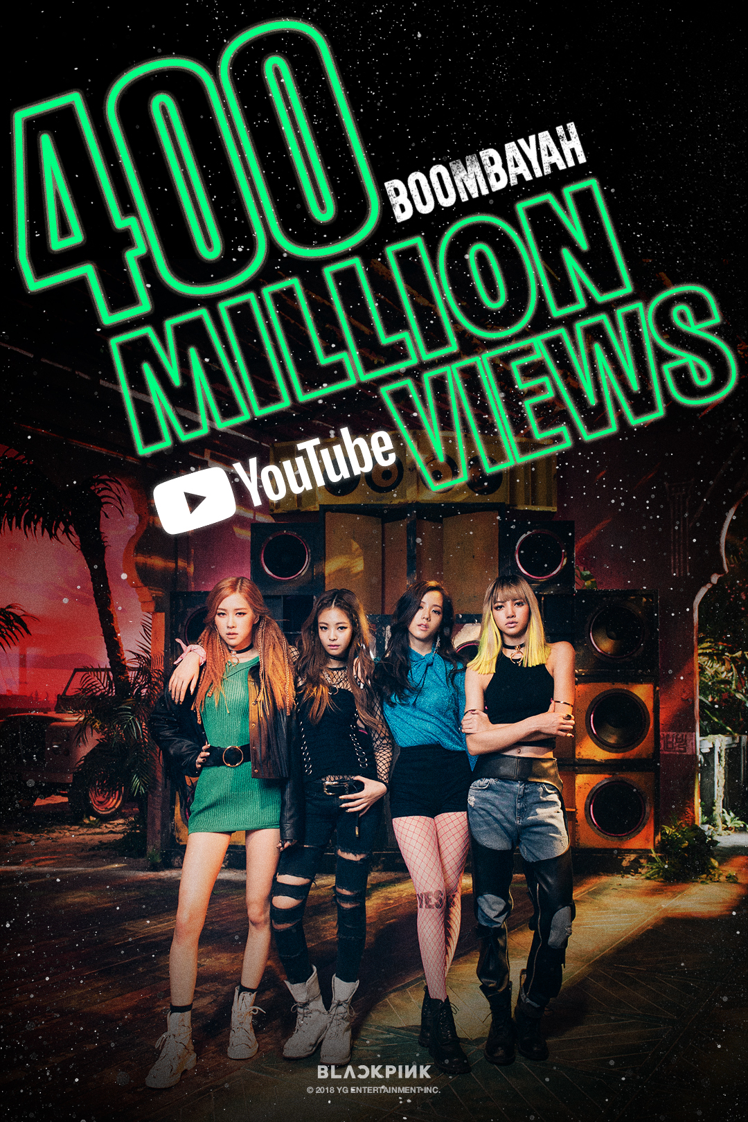 181023 BLACKPINK - 'BOOMBAYAH' MV HITS 400 MILLION VIEWS