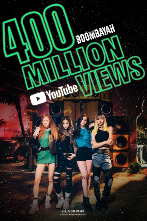 181023 BLACKPINK - 'BOOMBAYAH' MV HITS 400 MILLION VIEWS