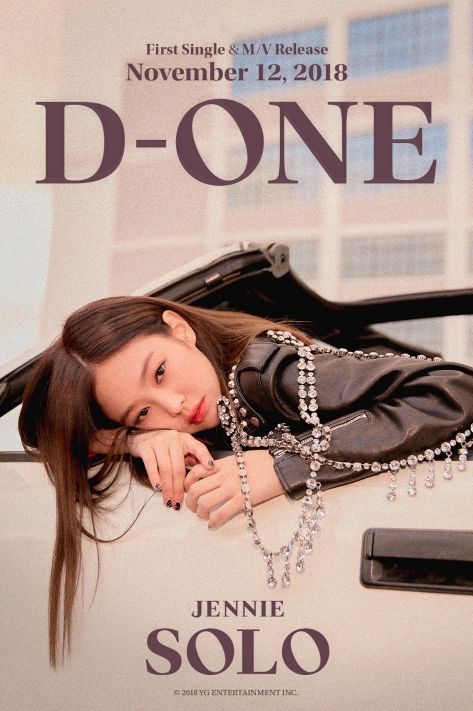 181111 JENNIE - 'SOLO' D-ONE POSTER