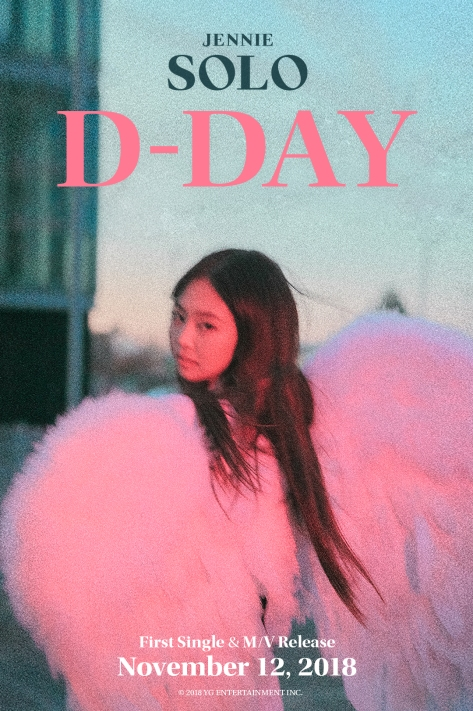 181112 JENNIE - 'SOLO' D-DAY POSTER